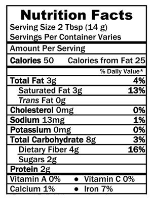 Nutrition-Facts-Coconut-Flour